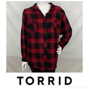 Torrid Plaid Button Down Shirt